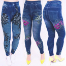 SOF36 Leggins Jeans, High Waist, Floral Print