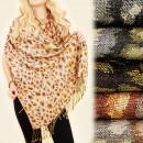 C17312 Großer und breiter Schal, Schal, Herbstfarb