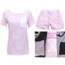 Großhandel Shorts: Damen Set, Bluse + Shorts, Baumwolle, UNI 5267