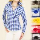 ingrosso Ingrosso Abbigliamento & Accessori: A1903 MATCHED,  camicia a scacchi, con le tasche