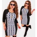 Großhandel Kleider: 4401 Pencil Dress, Slim Plus Size, Gänseblümchen