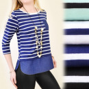 wholesale Jeanswear: BI262 SAILOR  BLOUSE, TUNIC, INSERT JEANS, pocket
