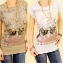 3778 blouse, TOP  PHOTO PRINT URBAN MILITAIRE MIX