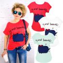 Großhandel Fashion & Accessoires: H114 lose Damen  Shirt,  Baumwollbluse, ...