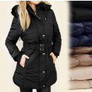 wholesale Coats & Jackets: BB73 LONG, winter  coat, JACET, fur, HOOD MIX