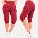wholesale Sports & Leisure: 4597 Summer Sweatpants, Women Shorts, Bordo