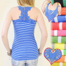 D2610 flashy boxer, TOP, LACE AND STRIPES