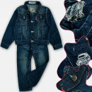 A19174 Ensemble de jeans pour garçon, veste et pan