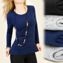 C1166 SMOOTH, UNIVERSAL BLOUSE, TOP, KNITTED