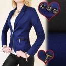 wholesale Coats & Jackets: BI316 FEMALE JACKET, NAVY & BLACK, OFFICE STYL