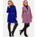C24251 Elegant Women Coat Jacket, Beautiful Collar
