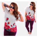 wholesale Fashion & Apparel: C11509 Romantic  Plus Size Blouse, Painted Roses