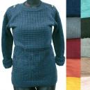 wholesale Pullover & Sweatshirts: Classic Loose Women Sweater, Golden Zippers, R136