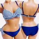 wholesale Swimwear: 4613 Sailor Swimsuit, Navy Blue, Belts