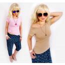 D26113 Klassische  Bluse, Frauen Basic Top, Pastell