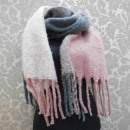 wholesale Cushions & Blankets: A1813 Big Scarf - blancket , Fluffy Plaid XXL