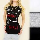 groothandel Kleding & Fashion: C11184 TRENDY  BLOUSE, TOP PRINT HELLO GIRLS