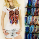 wholesale Fashion & Mode: G193 FASHIONABLE  BLOUSE TOP, coton, INDIAN OWL