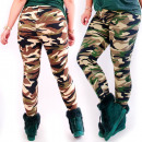 wholesale Trousers: Bamboo Camo Leggings, L-5XL, 5479