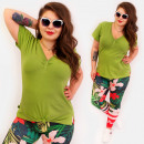 Großhandel Hemden & Blusen: 4592 Sommer Tunika, Bluse, Plus Size, ...
