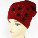 Großhandel Kopfbedeckung: CZ13 warme Frauen Mütze, Hut, Rosen und Jets
