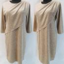 Großhandel Kleider: D4008 Kleid, Made In Poland, 44-52, Beige