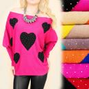 Túnica de cachemir, suéter S-XL, corazones y ...