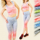 FL194 FITNESS SET, TOP + leggins, OMBRE, GYM TREND