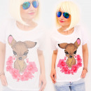 Großhandel Fashion & Accessoires: R89 Nice Damen Top, Bluse, Colourful Fawn