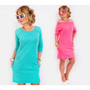 wholesale Fashion & Apparel: A811 Women Sweatshirt Dress, Juicy Colors