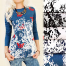 wholesale Shirts & Blouses: K452 Cotton Blouse, Long Sleeve, Autumn Trees