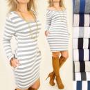 C11283 Loose Autumn Dress, Beautiful Neckline