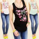 ingrosso T-shirts & Tops: 3836 TOP,  camicetta, BELLO FIORE DEL RICAMO MIX
