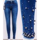 B16745 Women Jeans, Skinny Pants, Pearls