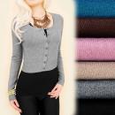 C22149 Weicher Pullover, Bolero, Chanelka, Kaschmi