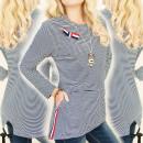 Großhandel Hemden & Blusen: BI561 Trapezbluse, Tunika, Lovely Bow