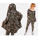 Großhandel Pullover & Sweatshirts: C24231 Frauen Hoodie, Moro, Übergröße