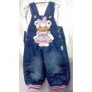 hurtownia Odziez dla dzieci i niemowlat: D388 Spodnie  ogrodniczki,  aplikacja miś od ...