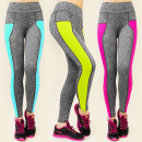 Großhandel Fashion & Accessoires: 3926 Leggings  FITNESS, Neon-MIX INSERTS
