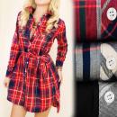 BI528 Lose Tunika, Kleid, Hemd Style, Gitter