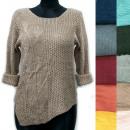 Großhandel Pullover & Sweatshirts: Asymmetrischer Damenpullover, Tulpen, R125