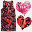 grossiste Vetement et accessoires: A19135 Robe de fille, tunique aztèque, 4-12