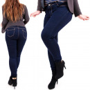 H101 Ladies Jeans,  Large Sizes, Navy Blue Denim