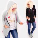 Großhandel Pullover & Sweatshirts: 4492 Frühlings-Hoodie, rosa Dreieck