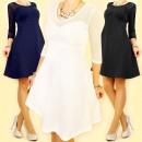 3715 Ausgestelltes Kleid mit Mesh-MIX