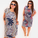 BI803 Patterned Plus Size Dress up to 54, Sliders