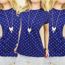 wholesale Childrens & Baby Clothing: C11176 GIRLS  BLOUSE TOP, cheerful polka dots