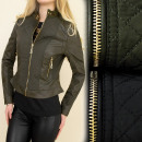 wholesale Coats & Jackets: A28151 Quilted  JACKET, Ramones, ECO LEATHER
