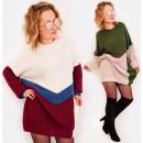 hurtownia Fashion & Moda: A854 Zimowa Sukienka, Swetrowa Linia, Oversize