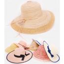 Großhandel Kopfbedeckung: B10A73 Sommerhüte mit breiter Krempe, Muster